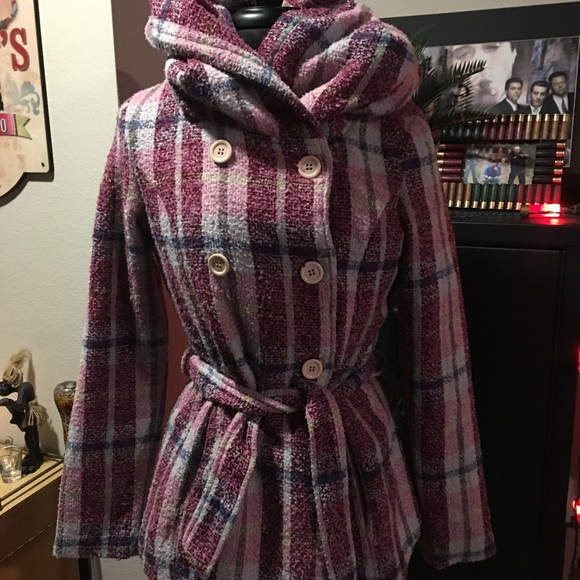 JouJou Purple plaid Med jacket Gently used